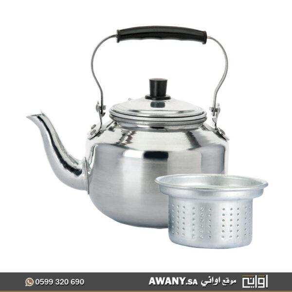 ابريق شاي مع شخال معدن