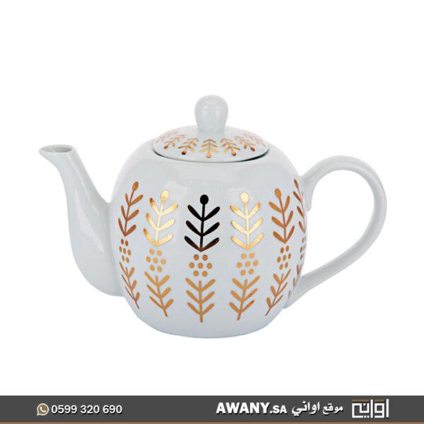 ابريق شاي بنقشة التوله للبيع