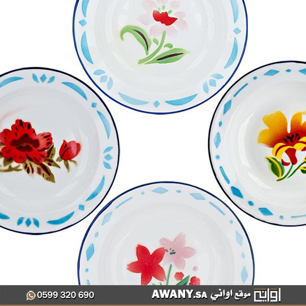 صحون شينكو نقش زهور قديمة الشكل