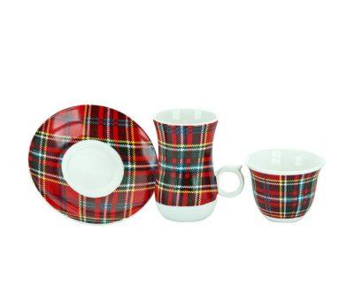 اطقم شاي وقهوة احمر